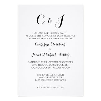Formal Wedding Invitation Wording Bride's Parents