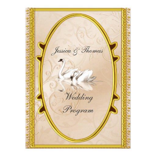 Formal Wedding Program Invitation