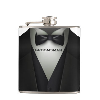 Formal Wedding Tuxedo | Elegant Groomsman Hip Flask