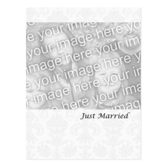 Formal White Just Married Postcard