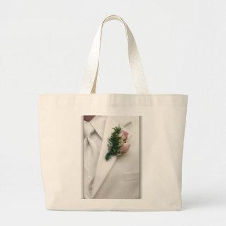 Formal White Tuxedo Jumbo Tote Bag