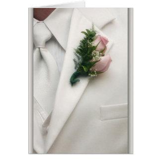 Formal White Tuxedo Card