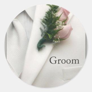 Formal White Tuxedo Stickers