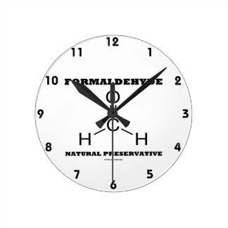 Formaldehyde Natural Preservative (Molecule) Wall Clock