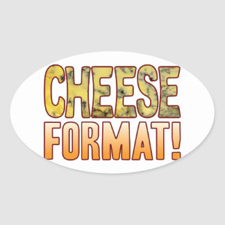 Format Blue Cheese Oval Sticker