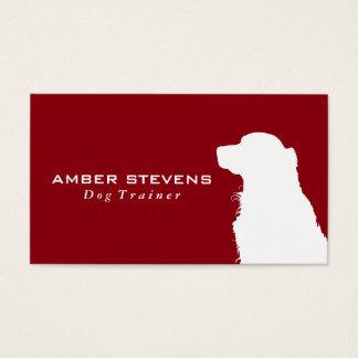 Formation canine de chien du plan rapproché | cartes de visite