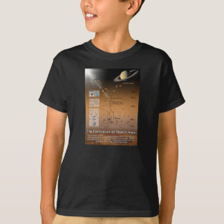 Formation of Titan's Haze Planet Saturn Moon T-Shirt