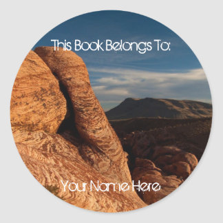 Formations in Red Rock Round Sticker