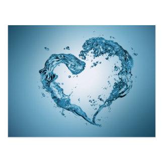 Forme de coeur de l'eau - carte postale