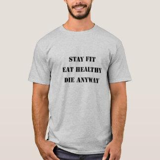 Forme physique drôle, gymnase, santé, téléphage, t-shirt