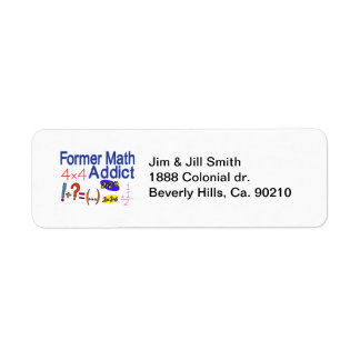 Former Math Addict Return Address Label