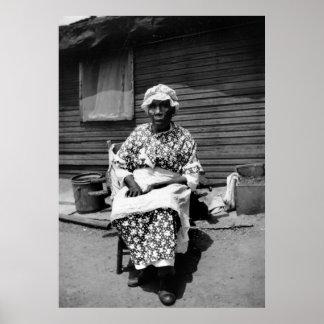 Former Slave Portrait, 1930s Poster