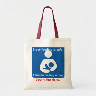 Formula feeding is risky tote bag