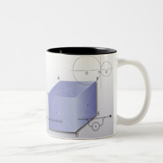 Formula, graph, math symbols 2 Two-Tone coffee mug