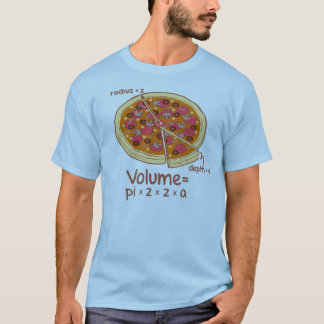 Formule mathématique = Pi*z*z*a de volume de pizza T-shirt