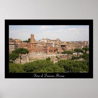 Foro di Traiano, Roma Poster