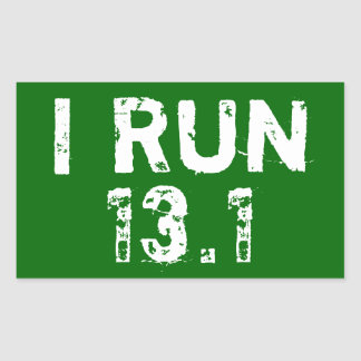 Forrest Green I Run 13.1 Sticker