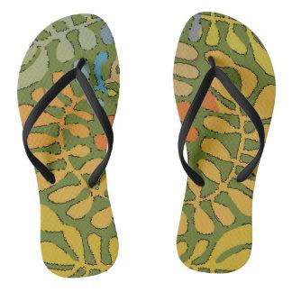 Forrest Leaves Flip Flops