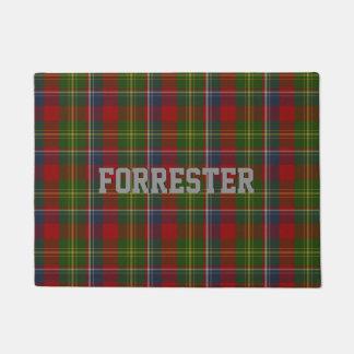 Forrester Clan Tartan Plaid Door Mat