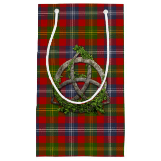 Forrester Tartan And Celtic Trinity Knot Small Gift Bag