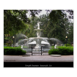 Forsyth Fountain Poster