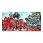 Forsyth Mansion Savannah Georgia art painting Personalized Photo Card