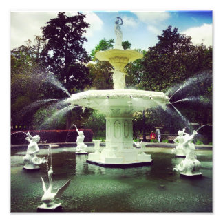 Forsyth Park Fountain Art Photo