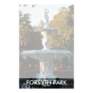 Forsyth Park Fountain | Savannah GA Georgia Customized Stationery