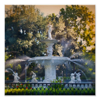 Forsyth Park, in Savannah, Ga Poster