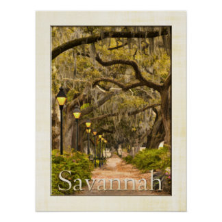 Forsyth Park - Savannah, GA Poster