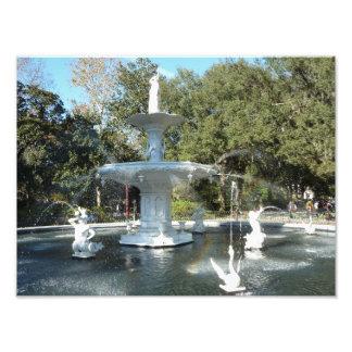 Forsyth Park Savannah Georgia Photo Print Fountain