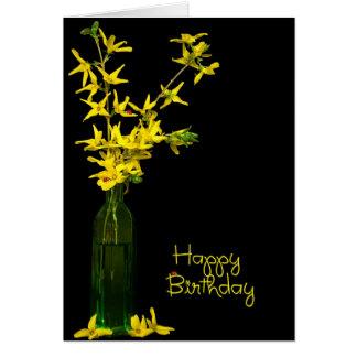 Forsythia birthday bouquet card