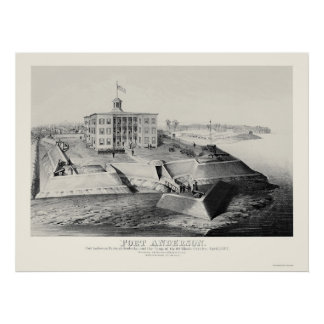 Fort Anderson in Paducah, KY 1862 Poster