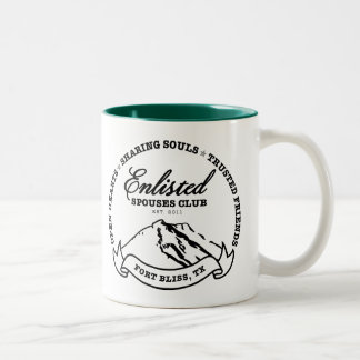 Fort Bliss Enlisted Spouses Club Two-Tone Coffee Mug