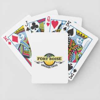 fort boise OT art Bicycle Playing Cards