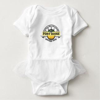 fort boise yellow marker baby bodysuit