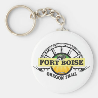 fort boise yellow marker keychain
