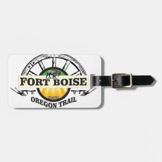 fort boise yellow marker luggage tag