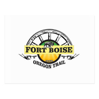 fort boise yellow marker postcard