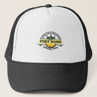 fort boise yellow marker trucker hat