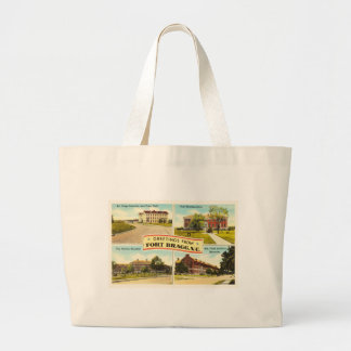 Fort Bragg # 2 North Carolina NC Vintage Souvenir- Large Tote Bag