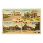 Fort Bragg # 2 North Carolina NC Vintage Souvenir- Wood Wall Art