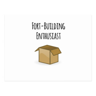 Fort-Building Enthusiast Postcard