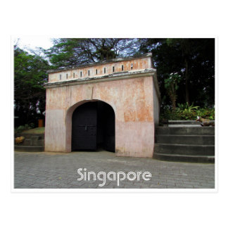 fort canning gate postcard