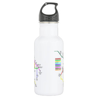 Fort Collins Bike Map 18 Ounce Water Bottle
