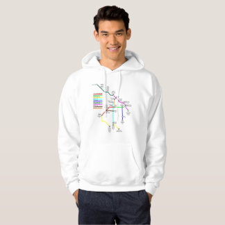 Fort Collins Bike Map Men's Hoodie