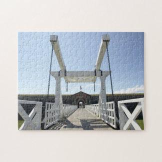 Fort George drawbridge. Jigsaw Puzzle