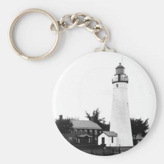 Fort Gratiot Lighthouse 2 Keychain