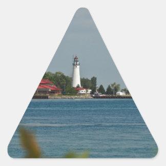 Fort Gratiot Lighthouse Triangle Sticker