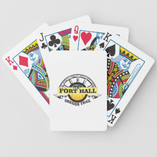 fort hall color bicycle playing cards